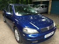 Vauxhall Astra SXI 16V 1598cc petrol 5 speed manual 5 door hatchback 53 Plate 31/12/2003 Blue