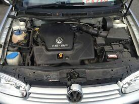 VW MK4 GOLF 1.6 PETROL 2001-2004 FOR BREAKING (SPARES/REPAIRS)