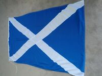 Scottish cotton Flag (used - but very good condition)