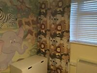 Beautiful hand made thermal lined child's curtains