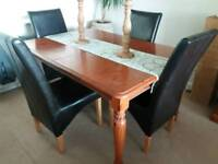 table and chairs and matching display cabinet