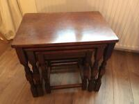Three nesting tables for sale