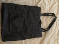 River island leather tote bag