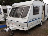 1999 Swift Lifestyle 450 2 Berth End Washroom Caravan with Full Awning