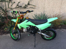 Demon 110 Pit Bike Green Wheels