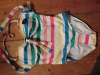 Brand-New M&S Striped Halterneck Swimsuit. Size 12.