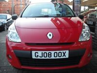 RENAULT CLIO 1.2 16v Freeway 3dr (red) 2008