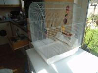 White budgie cage nearly new
