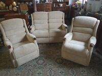 Sherborne three piece suite 2 seater sofa & two chairs