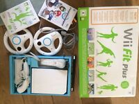 wii fit board, 2 games, consol, controllers