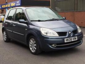 RENAULT SCENIC 2008 (08 REG)*£999*12 MONTHS MOT*PANORAMIC ROOF*GREY*5 DOORS*PX WELCOME*DELIVERY