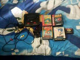 Sega Megadrive 2 With 5 Games And Cables + Controller