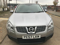 2007 NISSAN QASHQAI 4X4 DIESEL AUTO TEKNA MODEL LEATHER,, SUPERB DRIVE/NAVEGATION , REVERSE CAMRA