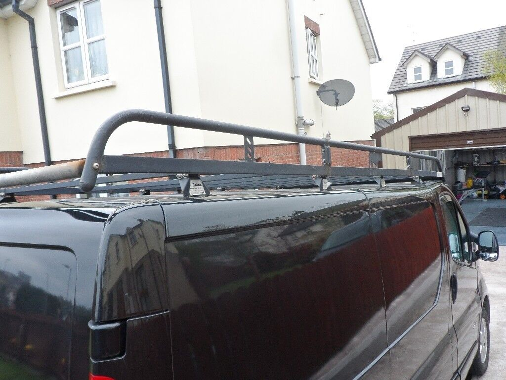 Rhino Safe Stow 3 Retractable Ladder Roof Rack Lwb