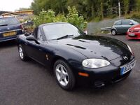 Mazda MX-5 1.8 i+ MOT JUNE 17+FSH+GREAT WEE CAR FOR SOMEONE++6 MONTH WARRANTY INCLUDED