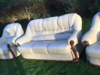 Leather sofas, vgc could deliver
