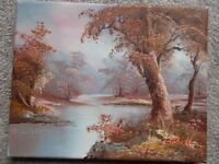 Vintage signed oil on canvas original oil painting