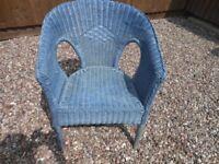 Wicker Chair Blue