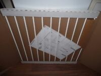 BabyDan NO TRIP WHITE METAL BABY STAIR, PET SAFETY GATE BOXED see details