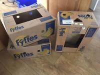 Cardboard banana boxes