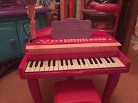 Children's pink piano