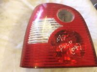 VW POLO 1.4 5DR 2004 N/S PASSENGER SIDE REAR LIGHT