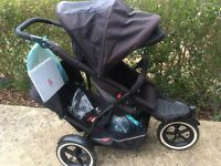 Phil & Teds double buggy pram