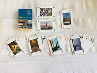 52 unique playing cards Sweden in pictures. COMPLETE. Happy to post. £2.50.