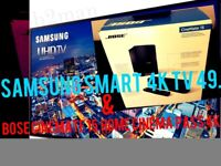 Samsung 49,UHD 4K lcd slims smart TV & Bose Cinemate 15 home theatre 4k 2017