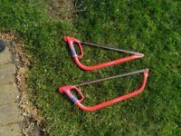 2 brand new predator bow saws with covers