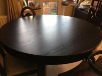 Ikea BJURSTA extendable round dining table