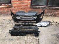 Ford Fiesta 2017 2018 Genuine front bumper + front panel + passenger headlight for sale