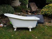 Small acrylic slipper bath