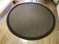 Large circular brown rug VGC