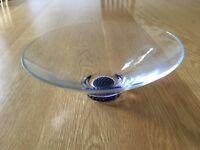 Bohemian cut glass bowl