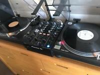 Technics 1210 pair with new pioneer djm450 mixer