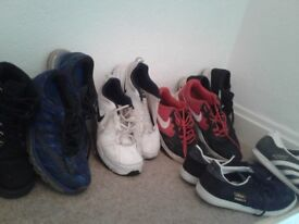 5 pairs used mens trainers. Nike and adidas. Air max and gazelle