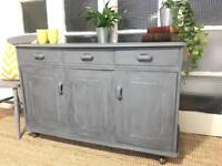 """Grey Paris"" VINTAGE SIDEBOARD FREE DELIVERY LDN🇬🇧chest"