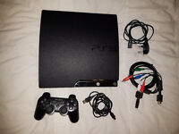 PS3 Slim 160GB with 8 games