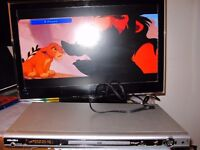 Home cinema: Full HD TV 24 inch + DVD player + video cable
