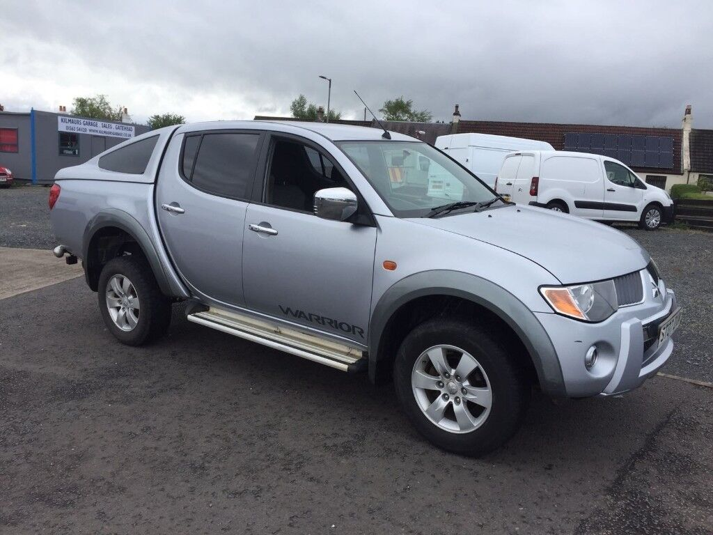 07 mitsubishi l200 warrior double cab pick up in kilmaurs east ayrshire gumtree. Black Bedroom Furniture Sets. Home Design Ideas
