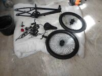 GENUINE 1983 OLD SCHOOL BMX-BEEN STRIPPED DOWN WHEELS HAVE BEEN SAND BLASTED AND RE-PAINTED