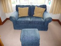 Two Seater Sofa and Footstool