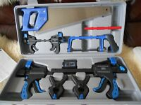 UNUSED SAW AND QUICK RELEASE CLAMP SET BOXED