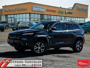 2016 Jeep Cherokee Trailhawk~Pano Roof~Leather~Navigation~Blueto