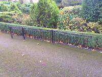 Ornamental metal garden railings 2' high - ideal for dwarf wall