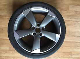 """Genuine FULL SET! 18"""" Inch AUDI A3 S3 RS3 5x112 Rotor Alloy 7.5 Jx18 H2 ET54"""