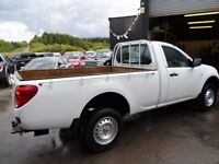 2012 MITSUBISHI L200 SINGLE CAB ONLY 31000 MILES , WHITE , NO VAT , SERVICED , FREE UK DELIVERY