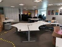Hexagonal 3 or 6-pod office desks
