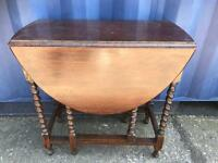 Barley twist gate leg drop leaf table FREE DELIVERY PLYMOUTH AREA